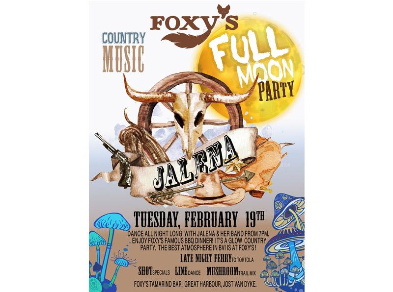 Foxy's Country Music Full Moon Party – Foxy's Bar Jost van