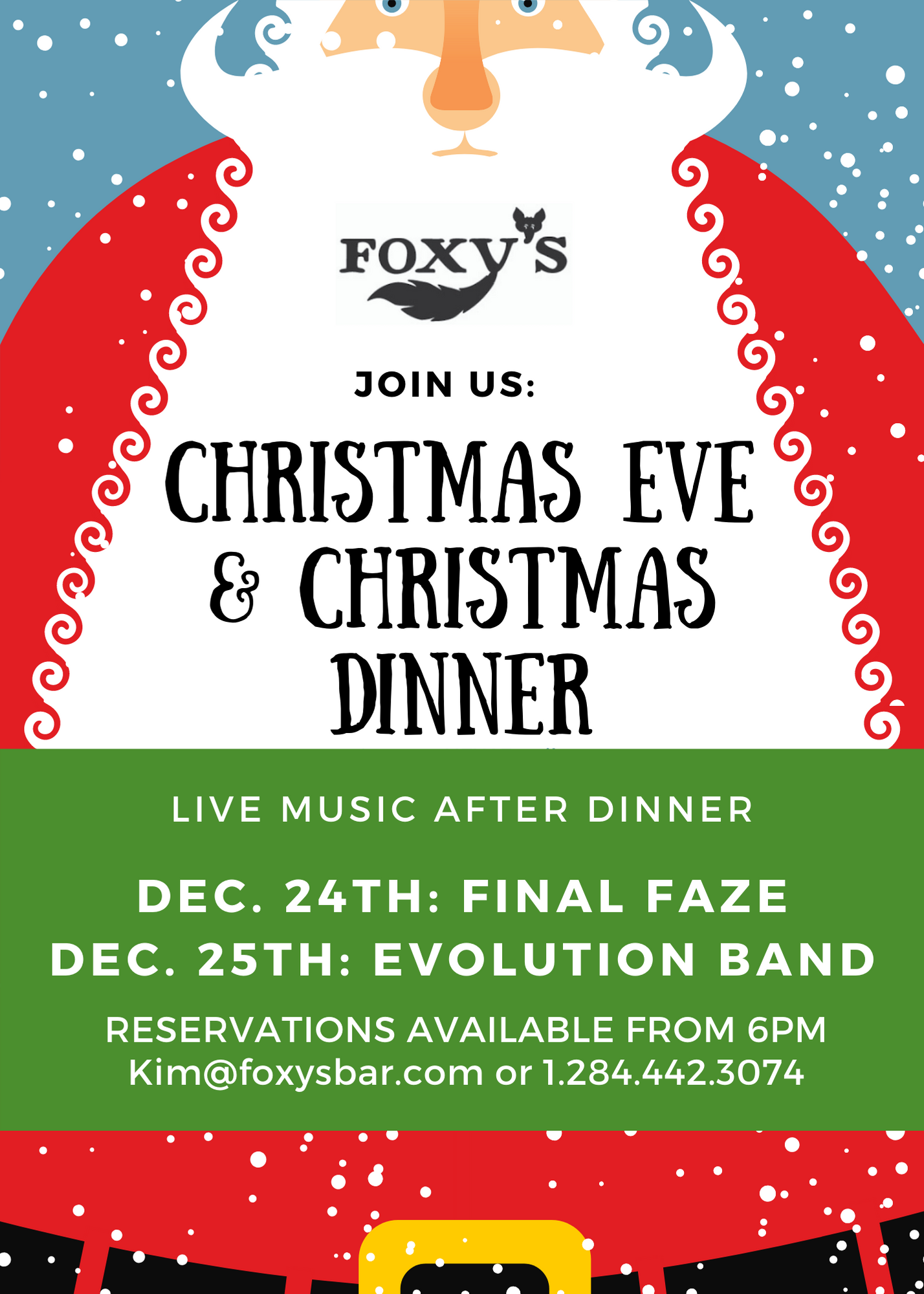 foxys christmas dinner